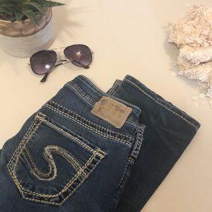 Silver Suki High Straight Jeans